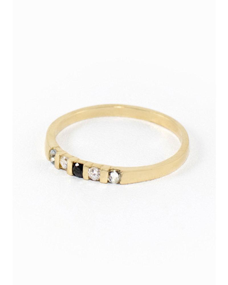 Aquamarine Vivian Ring - Size 8
