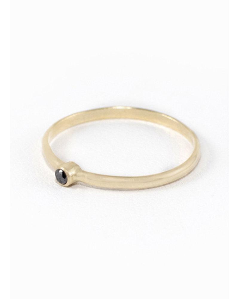 Eskell Black Diamond Eskell Ring- size 8
