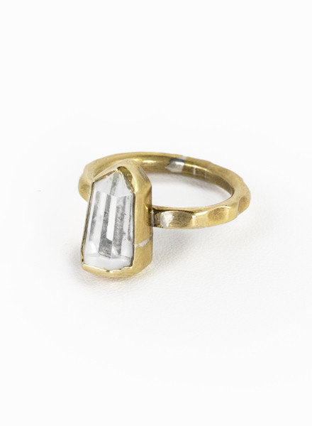 Break-a-Stone | Crystal Point Ring Bronze