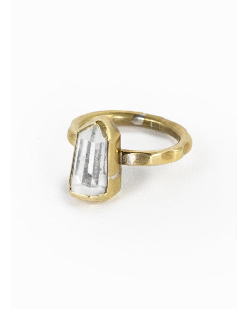 Break-a-Stone Break-a-Stone Crystal Point Ring Bronze