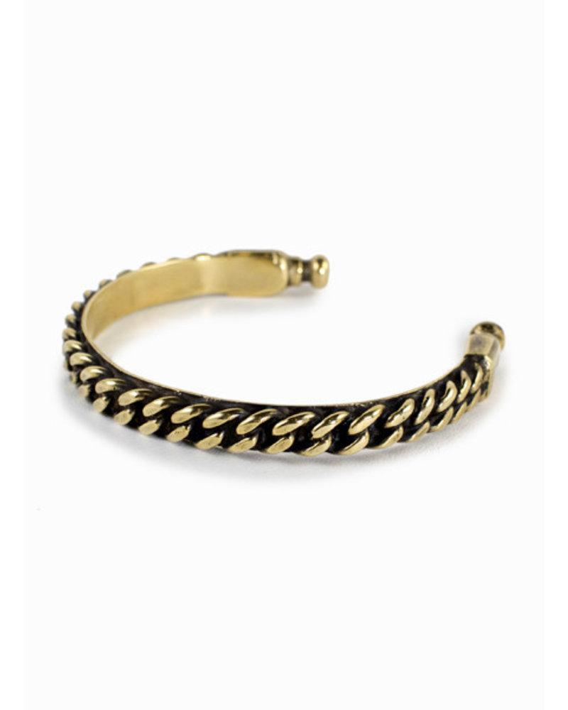 Break-a-Stone- Bronze Chain Cuff