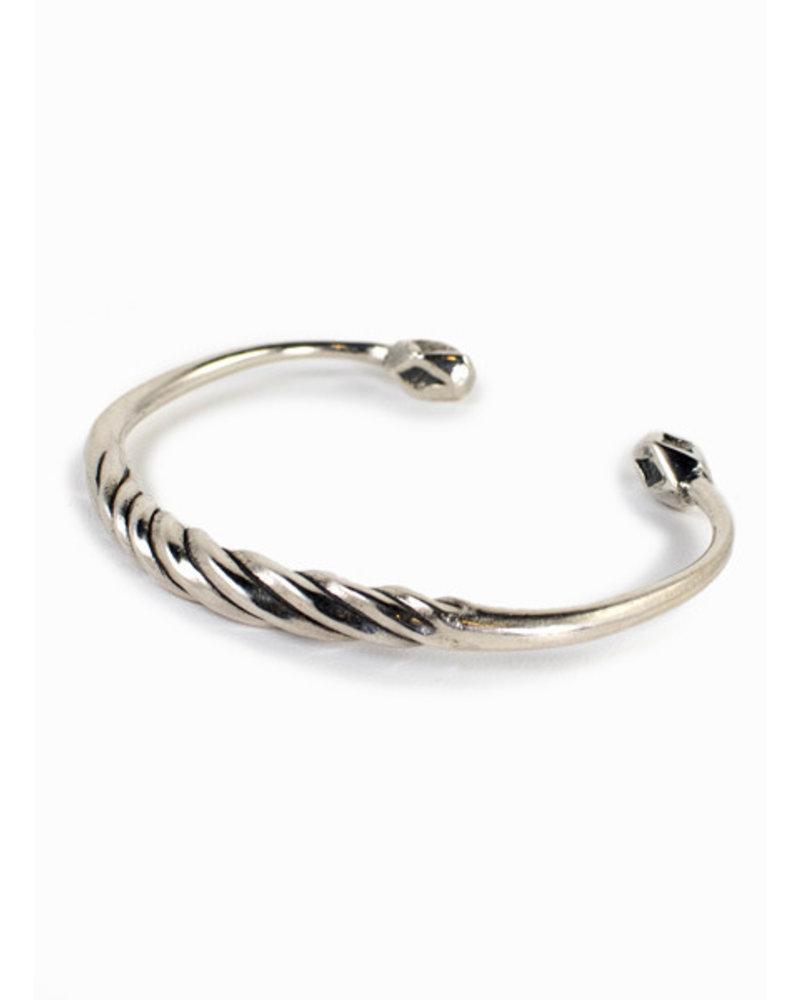 Break-a-Stone Twist Cuff Silver