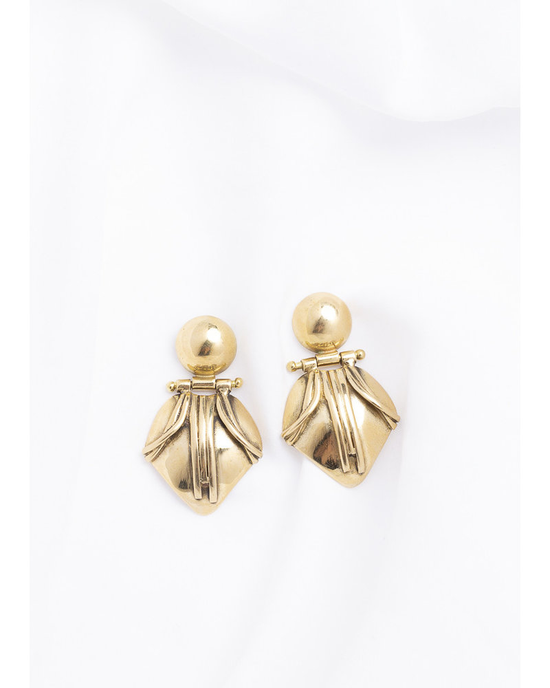 Break-a-Stone Emma Earrings | Bronze