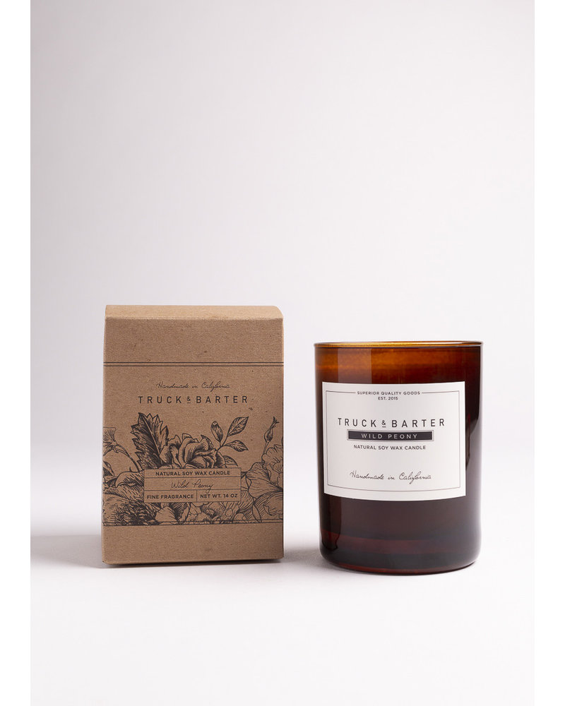 Truck & Barter Wild Peony Soy Candle