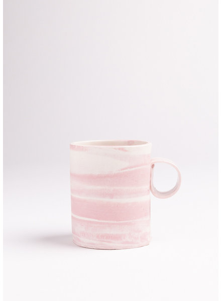 Cotton Candy Double Espresso/Lungo Mug- Pink, White