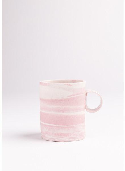 Cotton Candy Double Espresso/Lungo Mug- Pink, White