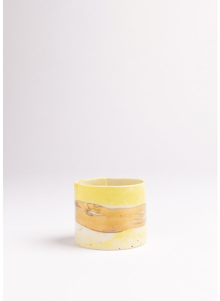 From:fran Yellow Espresso Cup- Yellow, Gold