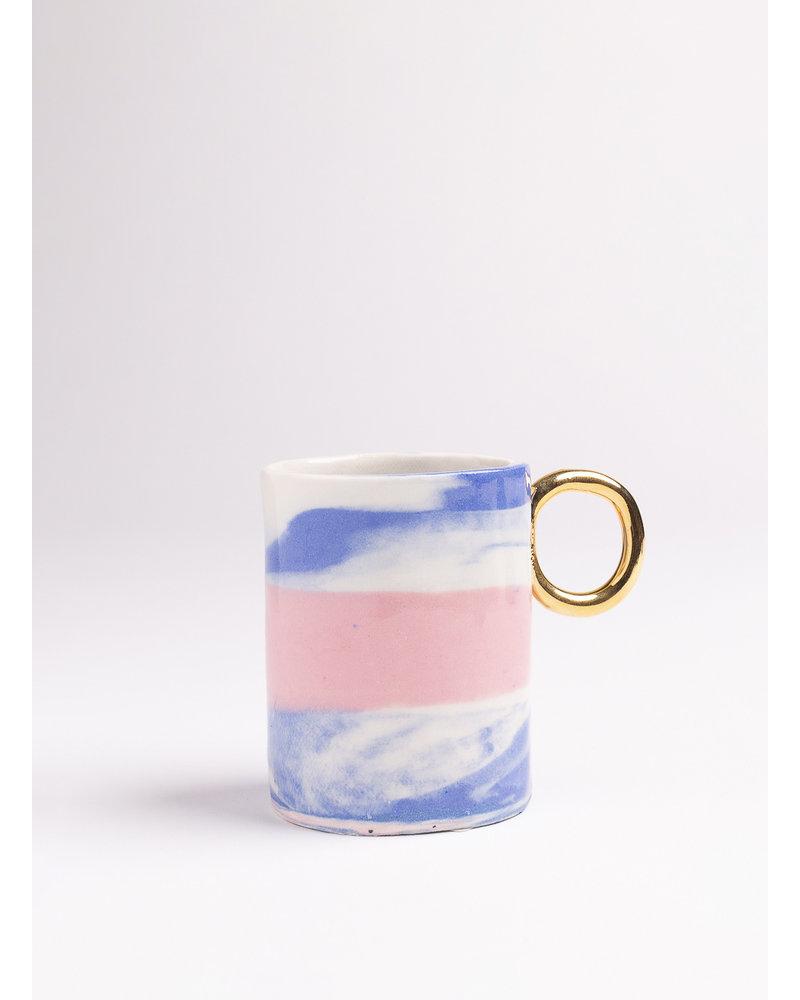 Serenity Double Espresso/Lungo Mug- Blue, Pink, Periwinkle