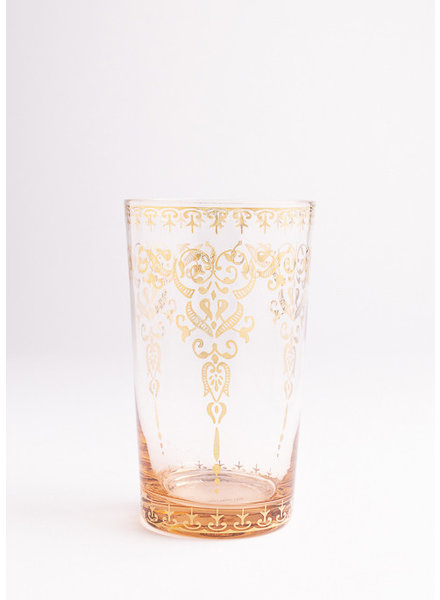 Moroccan | Pink Glass with Gold Accent | Large