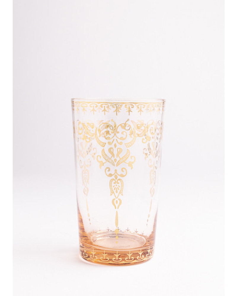 Moroccan  Amber Glass with Gold Design