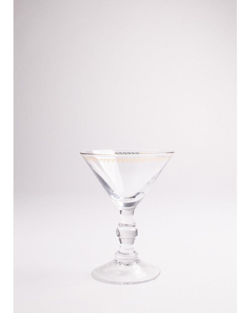 Mixologie Mini Martini Glass with Gold Rim