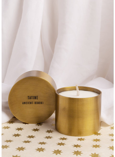 Tatine | Hand Forged Brass Candle Cup | Ancient Hinoki Candle