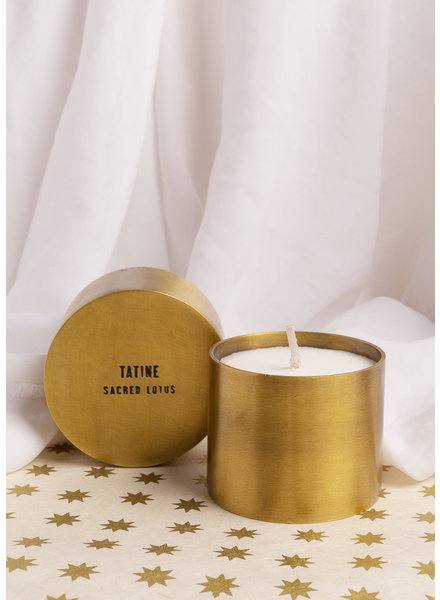 Tatine | Hand Forged Brass Candle Cup | Sacred Lotus