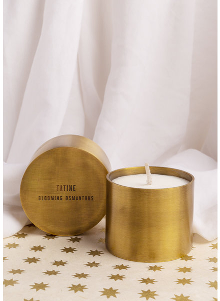 Tatine | Hand Forged Brass Candle Cup | Blooming Osmanthus