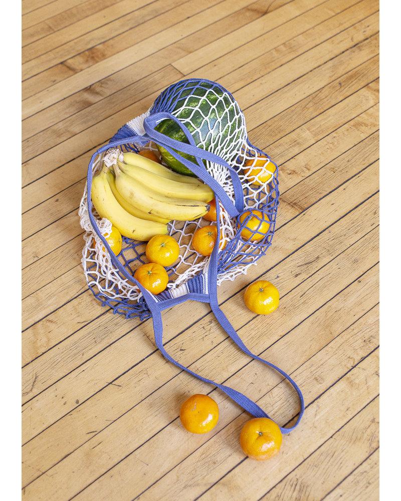 Filt Blue & White French Market Bag
