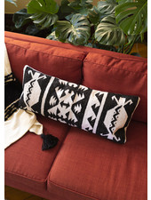 Black and White Lumbar Pillow