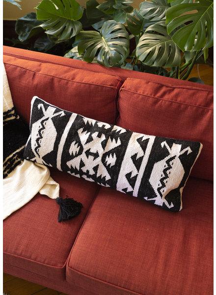 Casa Amarosa Black and White Lumbar Pillow