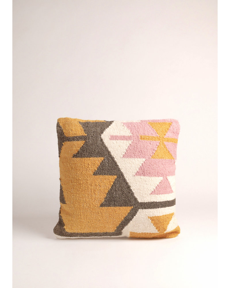 Desert Kilim Geometric Pillow