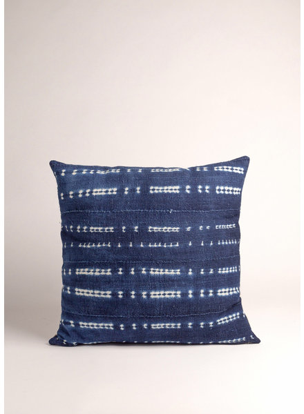 Medium Square Vintage Indigo Dyed Pillow