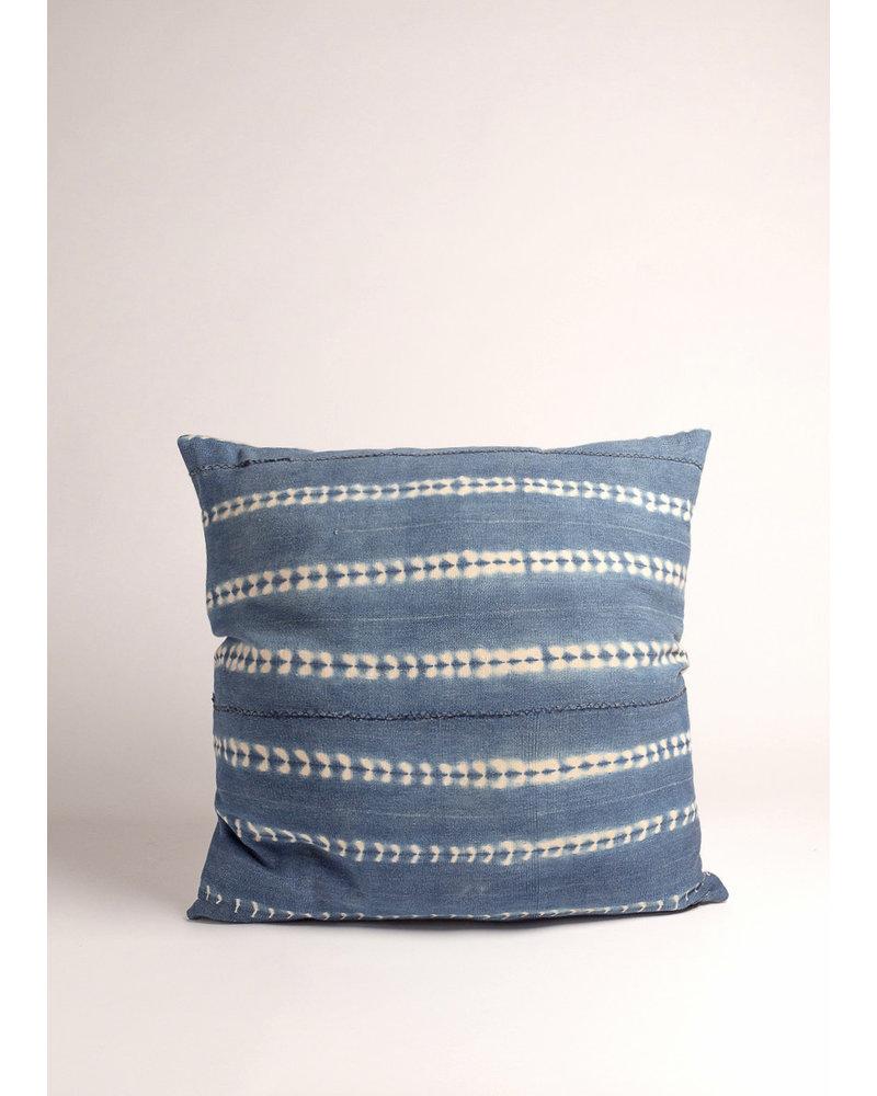 Medium Square Vintage Indigo Dyed Pillow