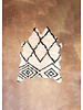 Black & White Patterend Sheep Skin Rug 3.3 x 4