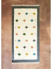 "Cream & Grey Pastel Tiled Rug | 38""x85"""