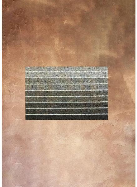 Chilewich Block Stripe Shag Doormat in Taupe 18x28