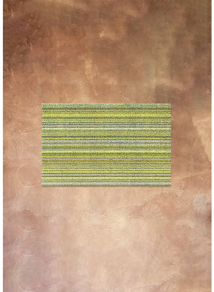 Skinny Stripe Shag Rug in Citron 18x28