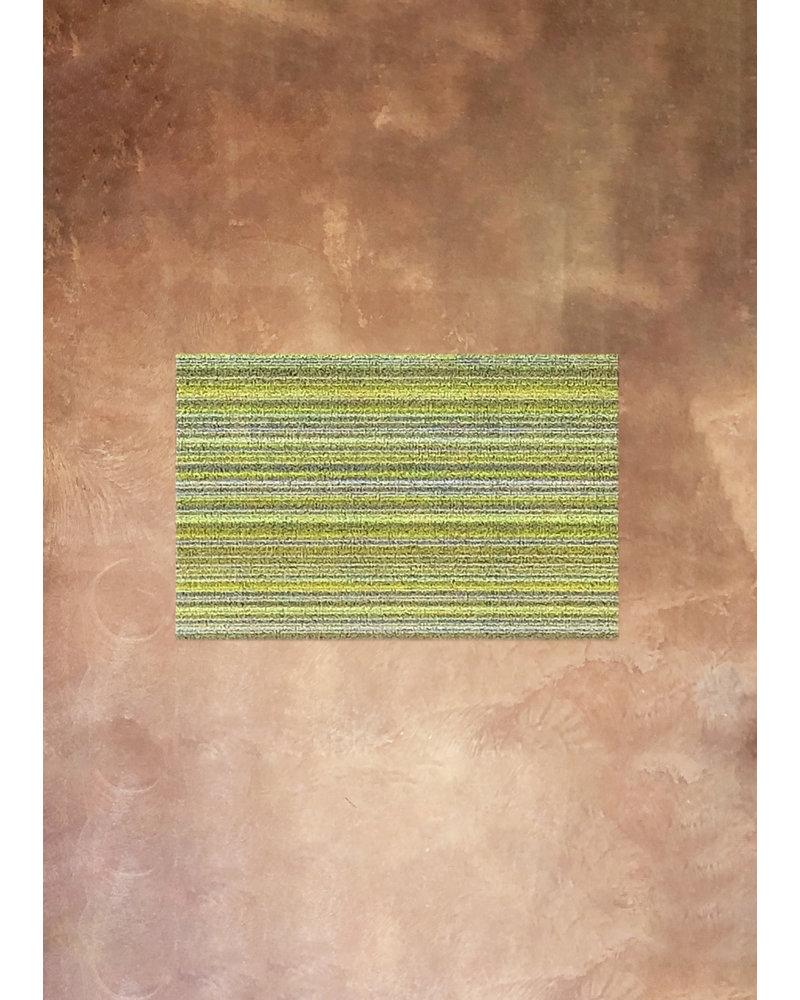 Chilewich Skinny Stripe Shag Rug in Citron 18x28