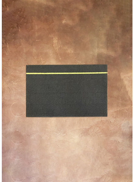 Chilewich 18x28 Simple Stripe Rug in Grey/Citron