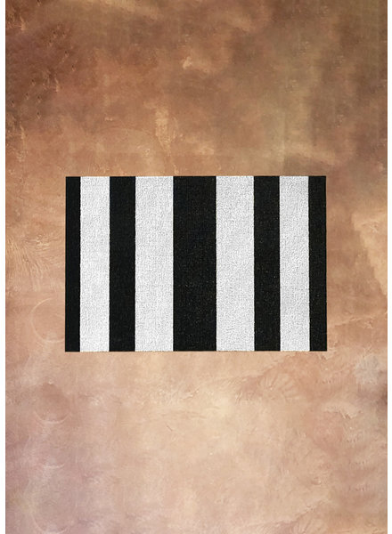 Black and White Stripe Rug | 18x28