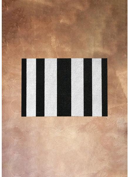 Chilewich Black and White Stripe Rug   18x28