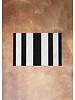 Black and White Stripe Rug | 18x28