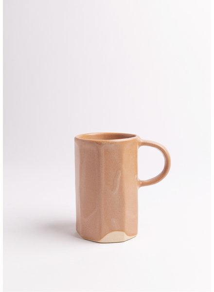 Dassie Artisan | Ridged Handmade Ceramic Mug in Salmon