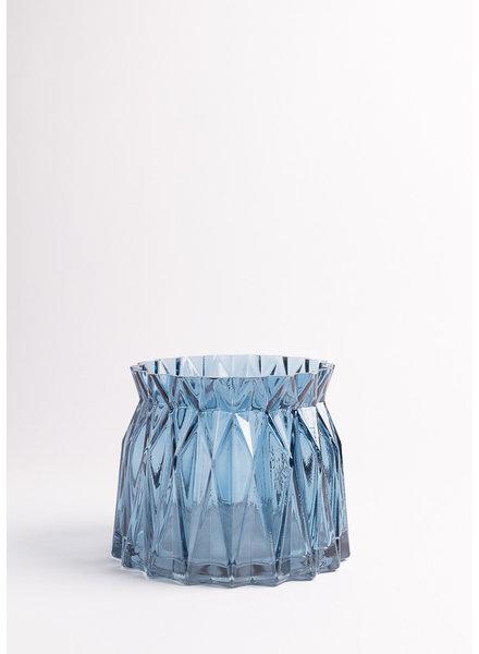 Blue Geo Pot