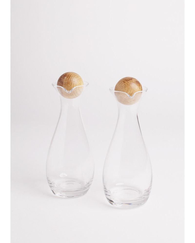 Oil and Vinegar Bottles w/ Oak Stopper (set of 2)