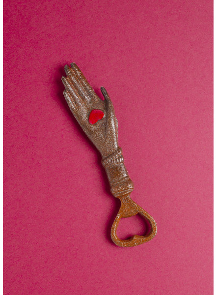 Hand with Heart Bottle Opener