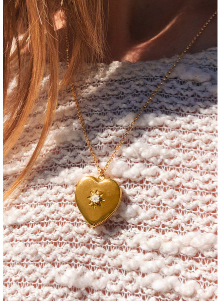Moonstone  Heart Locket