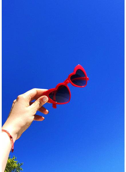 Mercury Lexi Heartshaped Red Sunglasses