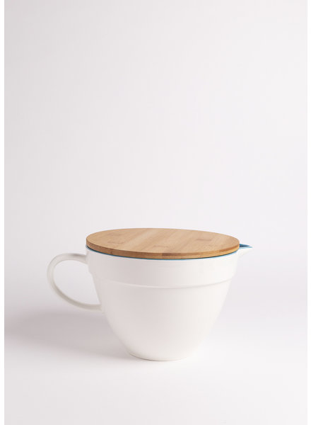 Ceramic Batter Bowl + Wooden Lid