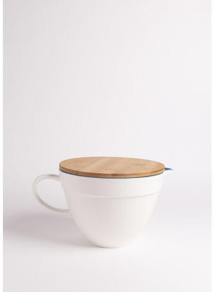 Ceramic Batter Bowl + Wooden Lid