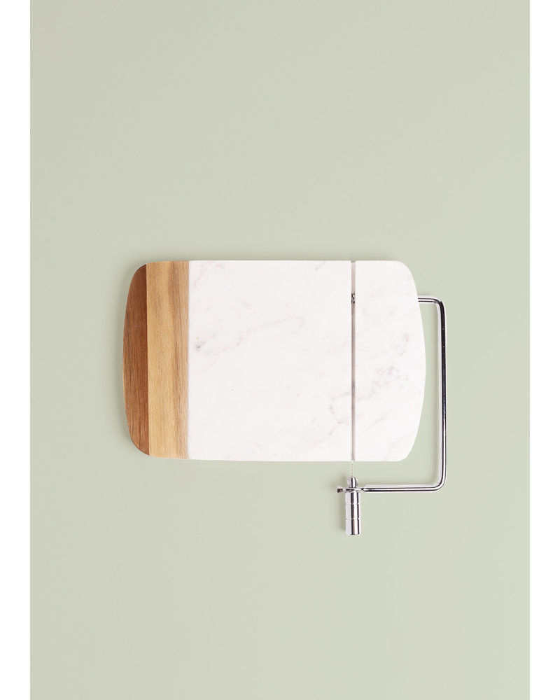 Marble and Acacia Charcuterie Slicer