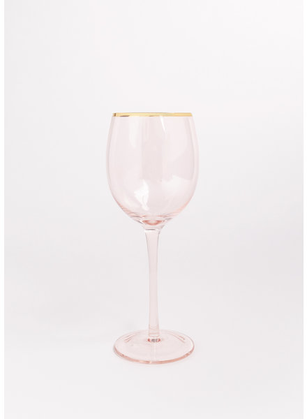 Rose Garden Party Wine Glass