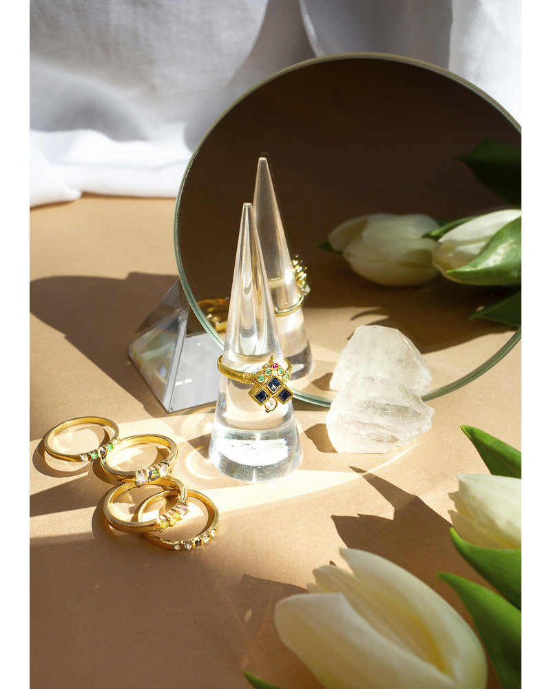 Eskell Amala Ring, Sapphire, Diamond, Emerald & Ruby s7