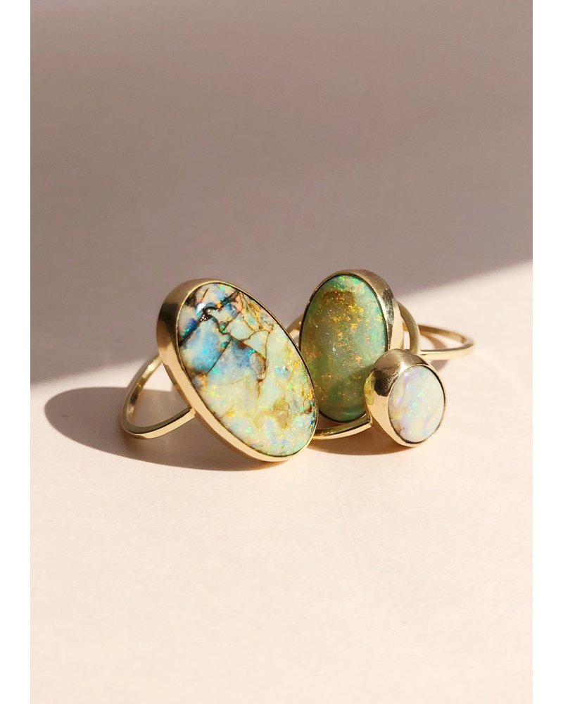 14k Gold Opal Rings