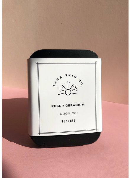 Rose + Geranium Lotion Bar