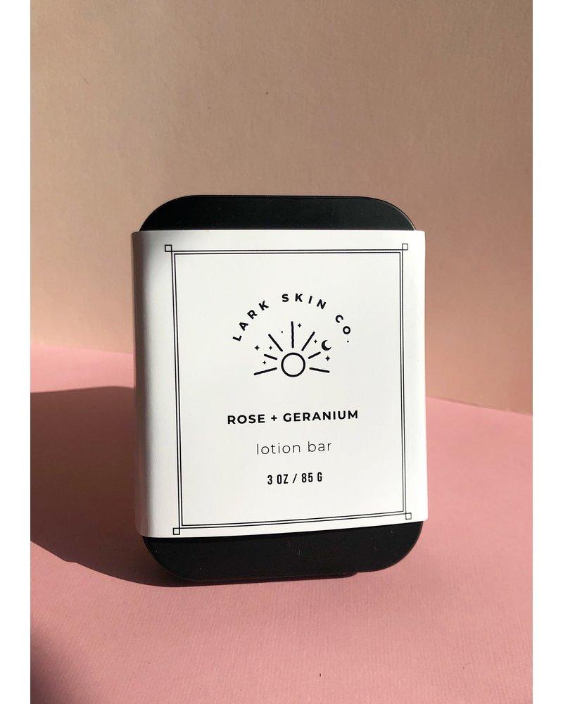 Rose + Geranium Lotion Bar
