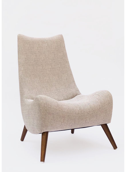 Noe Grey Tweed Accent Chair
