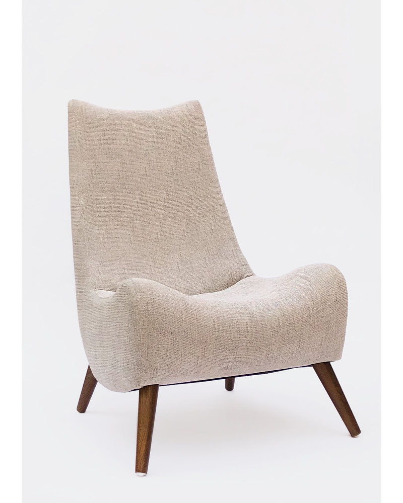 Noe Grey Tweed Accent Chair