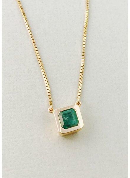 14kt Gold & Emerald Pendant Necklace
